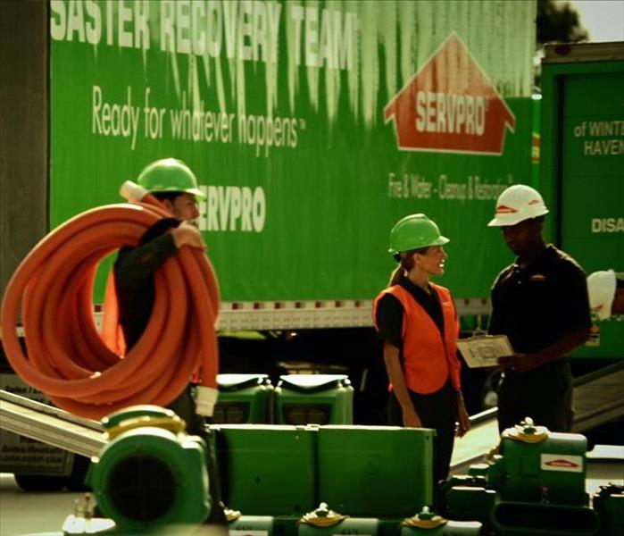 SERVPRO team and equipment